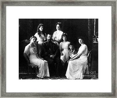The Romanovs, Russian Tsar With Family Framed Print by Science Source