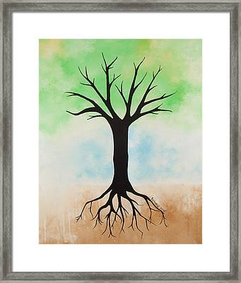 The Root Framed Print by Jodi Leigh