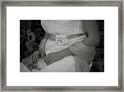 The Rose And Her Ring Framed Print by Robin Robinson