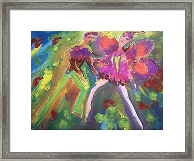 The Rose And The Butterfly Framed Print