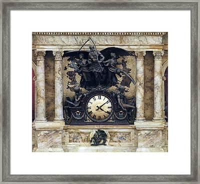 The Rotunda Clock Ca. 1890s By John Framed Print