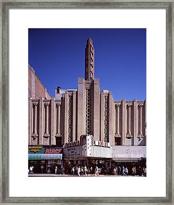 The Roxie Theater, Built By John M Framed Print by Everett