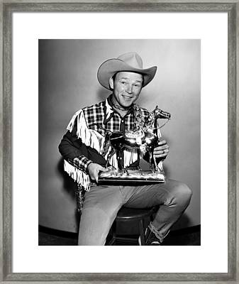 The Roy Rogers Show, Roy Rogers Framed Print by Everett