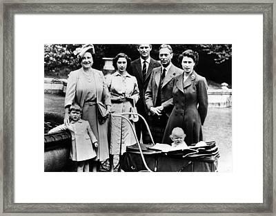 The Royal Family, L-r Prince Charles Framed Print