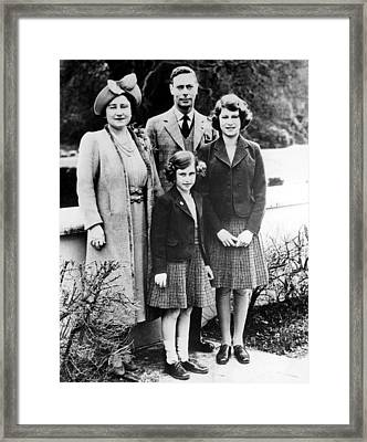 The Royal Family, Queen Elizabeth Later Framed Print by Everett