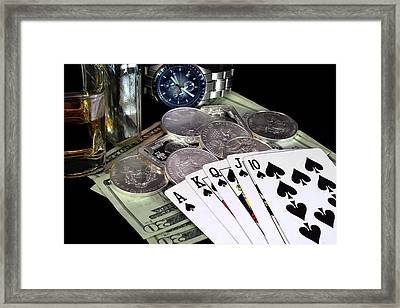 The Royal Flush Framed Print by Lynnette Johns
