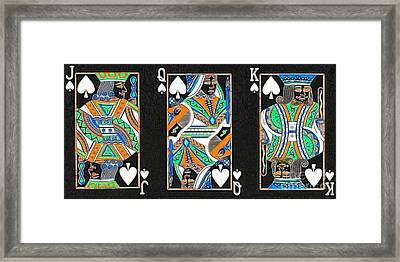 The Royal Spade Family Framed Print by Wingsdomain Art and Photography