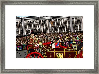 The Royal Wedding  Framed Print by Karen Elzinga