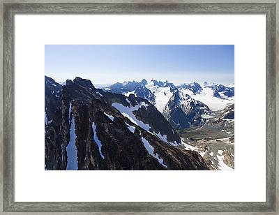 The Rugged Cliffs Of The High Mountains Framed Print