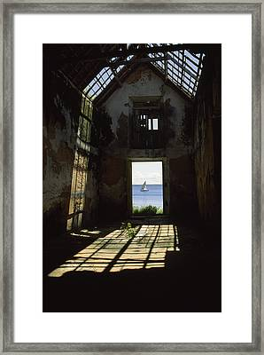 The Ruin Of A Slave Warehouse Dating Framed Print by James L. Stanfield
