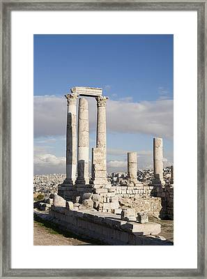 The Ruins Of The Ancient Citadel, Or Framed Print by Taylor S. Kennedy