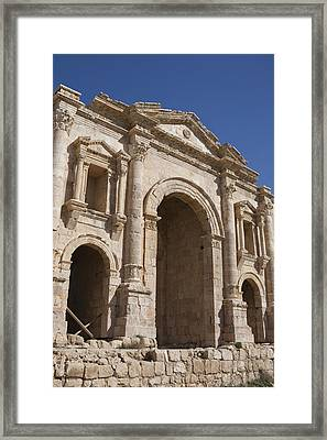 The Ruins Of The Ancient City Of Jerash Framed Print by Taylor S. Kennedy