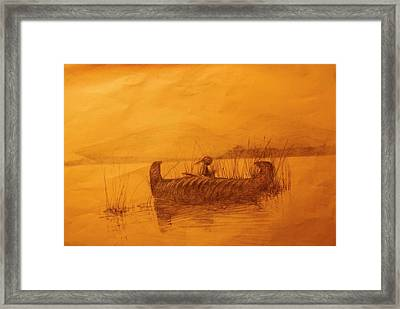 The Rush Gatherer Framed Print by Ronald Gillis