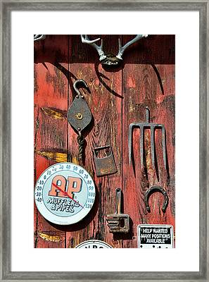 The Rusty Barn - Farm Art Framed Print by Paul Ward