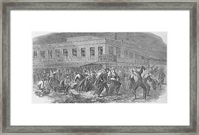 The Sacking Of Brooks Brothers Clothing Framed Print by Everett