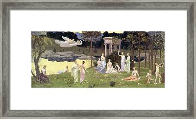 The Sacred Wood Cherished By The Arts And The Muses Framed Print by Pierre Puvis de Chavannes