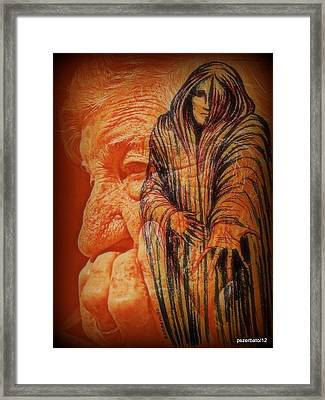 The Sadness That Walk In Search Of Dreams Framed Print