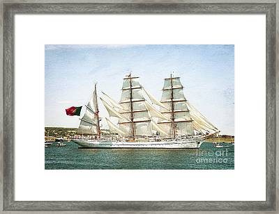 Framed Print featuring the photograph The Sagres by Verena Matthew
