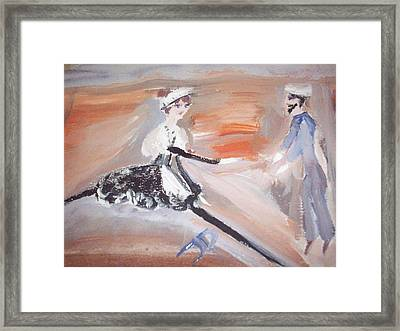 The Sailor And The French Maid Framed Print by Judith Desrosiers