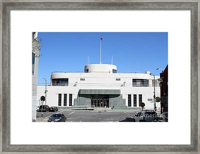 The Sala Burton Building . Maritime Museum . San Francisco California . 7d14087 Framed Print by Wingsdomain Art and Photography