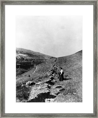 The San Andreas Fault In Olema Framed Print by Everett