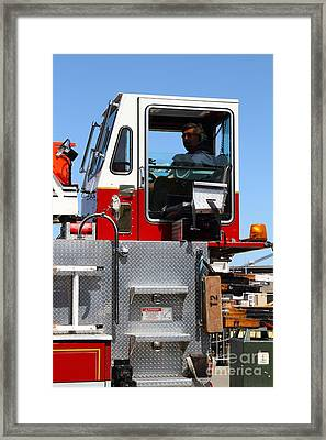 The San Francisco Fire Department Fire Engine . 7d14211 Framed Print by Wingsdomain Art and Photography