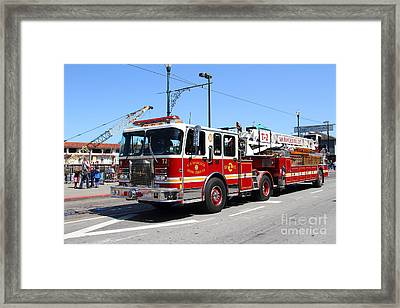 The San Francisco Fire Department Fire Engine At Fishermans Wharf . 7d14207 Framed Print by Wingsdomain Art and Photography