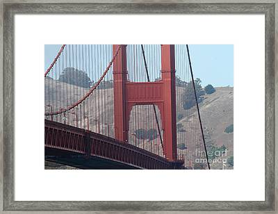 The San Francisco Golden Gate Bridge - 7d19057 Framed Print by Wingsdomain Art and Photography
