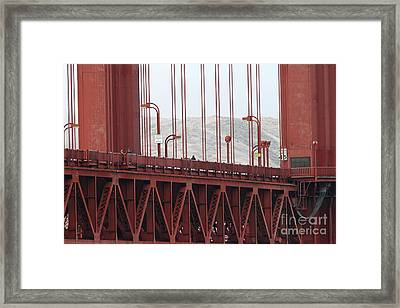 The San Francisco Golden Gate Bridge - 7d19060 Framed Print by Wingsdomain Art and Photography