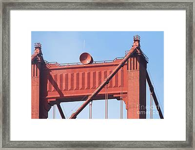 The San Francisco Golden Gate Bridge - 7d19108 Framed Print by Wingsdomain Art and Photography