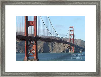 The San Francisco Golden Gate Bridge - 7d19184 Framed Print by Wingsdomain Art and Photography