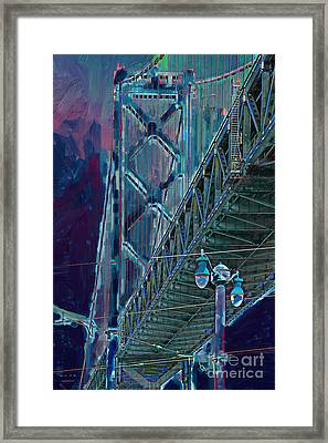 The San Francisco Oakland Bay Bridge Framed Print