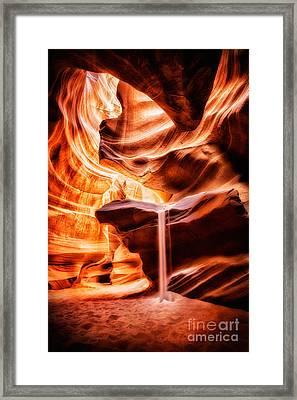 The Sandfall Framed Print by Geoffrey Gilson