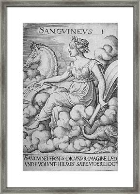 The Sanguine Personality Was Optimistic Framed Print by Everett