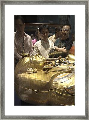 The Sarcophagus Of King Tutankhamun Framed Print by Richard Nowitz