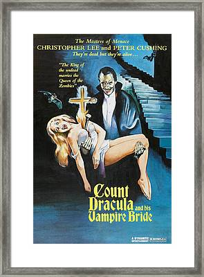 The Satanic Rites Of Dracula, Aka Count Framed Print by Everett