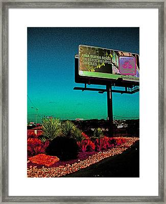 The Saucers Are Coming Papa And I Am So Afraid Framed Print