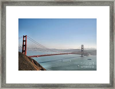 The Sausalito Side Of The Bay Framed Print