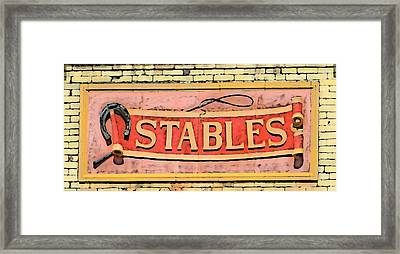 The Schlitz Stables Framed Print by Geoff Strehlow