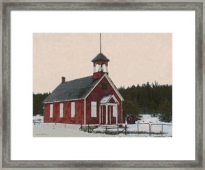The School House Painterly Framed Print by Ernie Echols