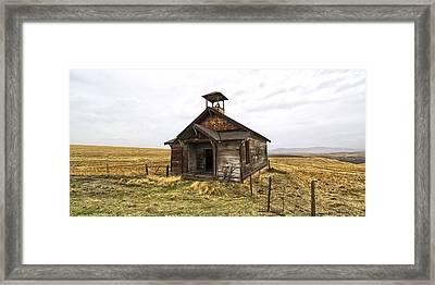 The School House Framed Print by Steve McKinzie
