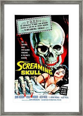 The Screaming Skull, 1958 Framed Print by Everett