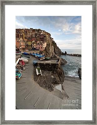 The Sea Awaits Framed Print by Mike Reid
