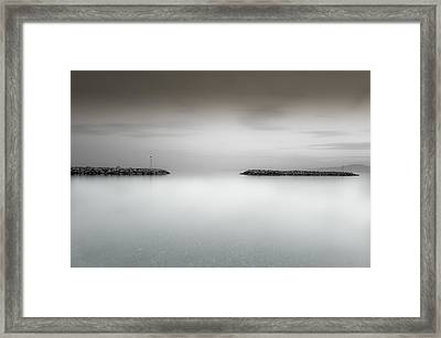 The Sea Between Us Framed Print