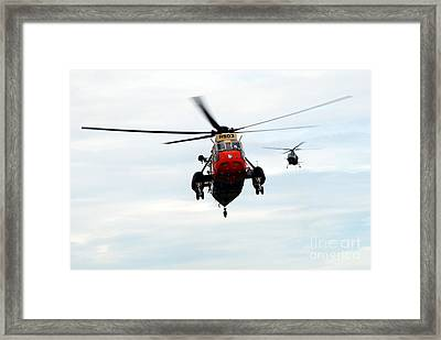 The Sea King Helicopter And The Agusta Framed Print by Luc De Jaeger