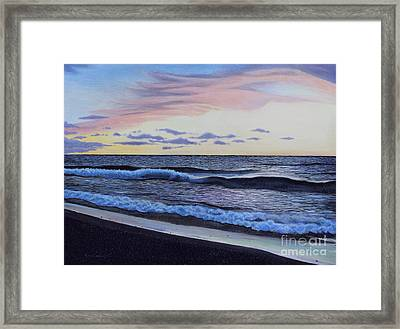 The Sea Was Angry That Day My Friends... Framed Print by Dan Lockaby