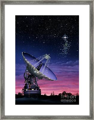 The Search For Extraterrestrial Intelligence Framed Print by Lynette Cook