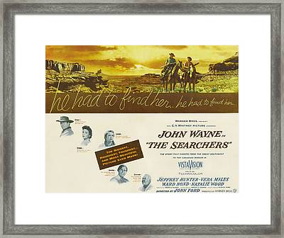 The Searchers, John Wayne, Natalie Framed Print
