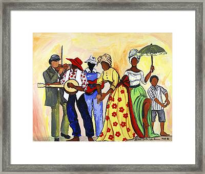 The Second Line Framed Print by Diane Britton Dunham