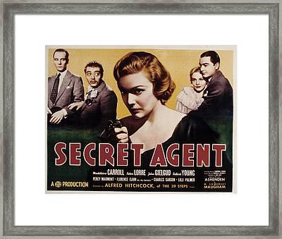 The Secret Agent, John Gielgud, Peter Framed Print by Everett